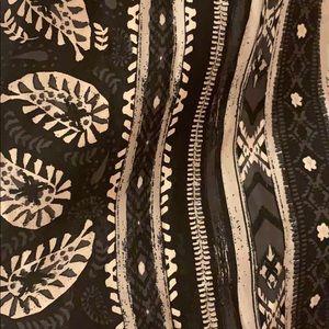 Mudd Dresses - Black printed maxi dress